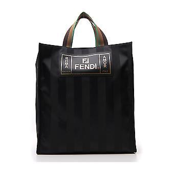 Fendi Black Fabric Handbag