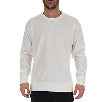 Laneus White Cotton Sweater