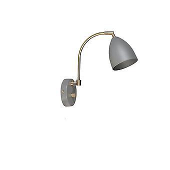 Belid - Deluxe muur licht grijs messing Finish 507694