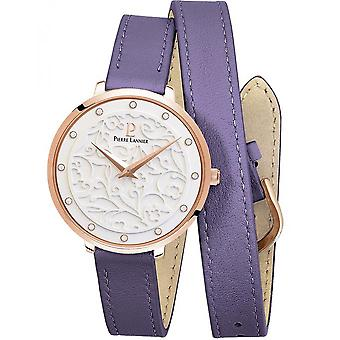 Watch Pierre Lannier K 043, 909 - steel Rose leather purple woman gold