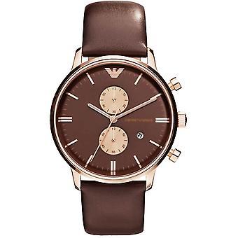 Emporio Armani Chronograph Mens męski brązowy nadgarstka zegarek AR0387