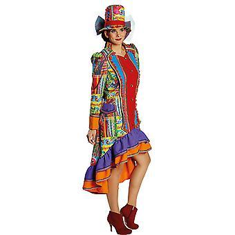 Crazy folk costume Lady Mesdames robe Carnaval Mardi