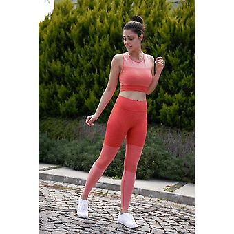 Jerf-womens -lima- Red Melange- Seamless- Active Leggings