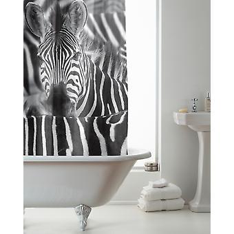 Country Club Hookless Shower Curtain, Zebra