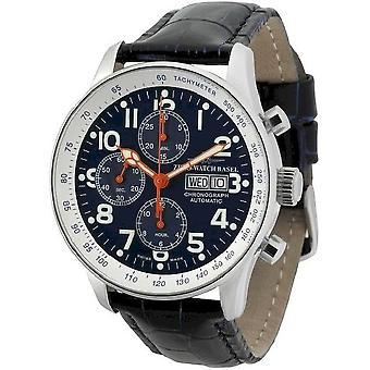 Zeno-watch montre pilote chronographe-date XL spécial P557TVDD-b15