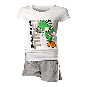 Flashpoint AG Super Mario Yoshi Sleeping Time Pyjamas Weiß-Grey-Small