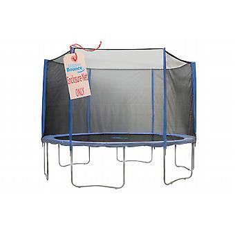 12' Trampoline Enclosure Safety Net Fits for 12 FT. Round Frames using 6 Straight Poles, Installs Outside of Frame (poles not included)