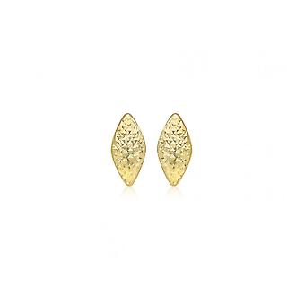 Eternity 9ct Gold Diamond Cut Rhombus Stud Boucles d'oreilles