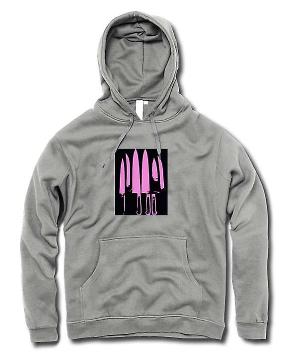 Mens-Hoodie - Pop-Art - Messer