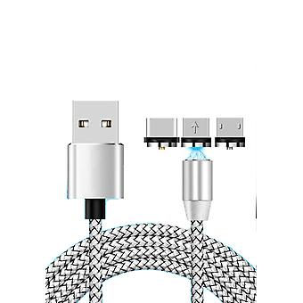 Magnetic charging Cable 3-in-1 for all mobiles, 1 meter