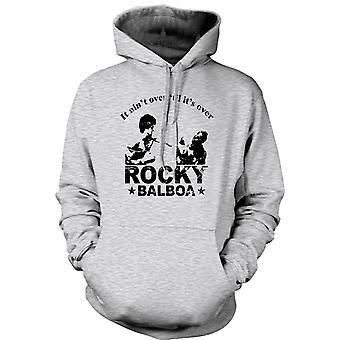 Mens Hoodie - Rocky Balboa Aint Over - Boxing - Funny