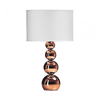 Premier Home Cameo Touch Lamp, Tissu, Cuivre