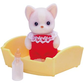 Sylvanian Familie Chihuahua Hund Baby rot
