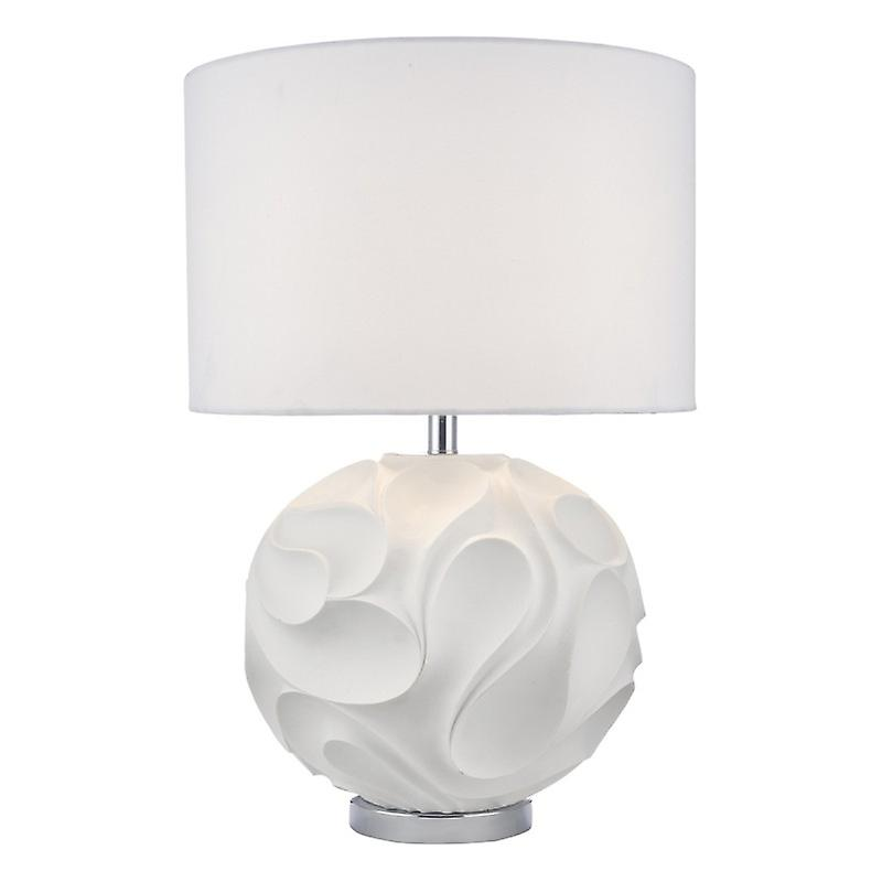 Zachary Table Lamp blanc Round Cw Shd