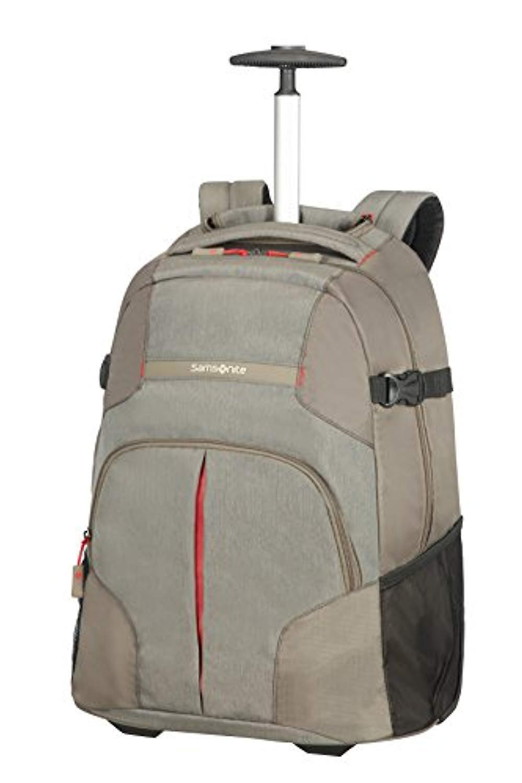 Samsonite Rewind - Laptop Zaino con Ruote Unisex - Grigio (Taupe) - 32.5 liters - XL (55cm-32.5L)