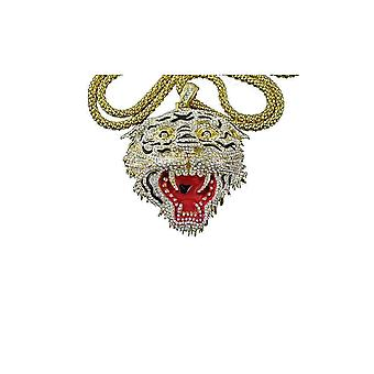 Pendant with chain Cz gold Ed Hardy Tiger