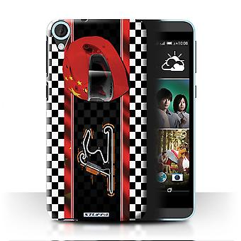 STUFF4 Case/Cover for HTC Desire 820q Dual/China/Shanghai/F1 Track Flag