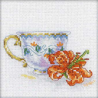Lily Tea Party Counted Cross Stitch Kit-4.75