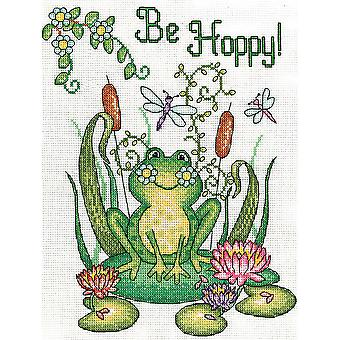Be Hoppy Frog Counted Cross Stitch Kit 8