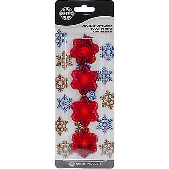 Plastic Cutter Set 4Pc Angel Snowflakes 102Ci016