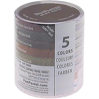 Panpastel Ultra Soft Artist Pastel Set 9Ml 5 Pkg Extra Dark Shades Earthtones Ppstl5 30058