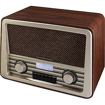 DAB+ Table top radio SoundMaster NR920 Nostalgie DAB+, FM Wood, Dark brown