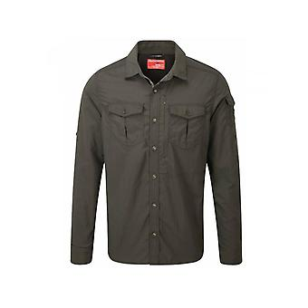 Craghoppers NosiLife Adventure Mens Long Sleeved Shirt Dark Khaki (Size S)