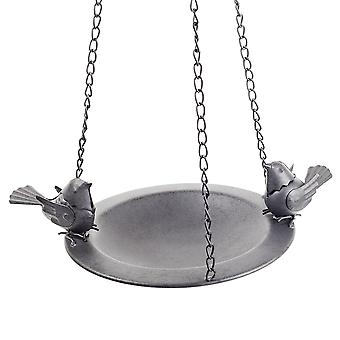 Bosworth' Hanging Decorative Black Metal Bird Feeder Bowl