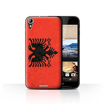 STUFF4 Case/Cover for HTC Desire 830/Albania/Albanian/Flags