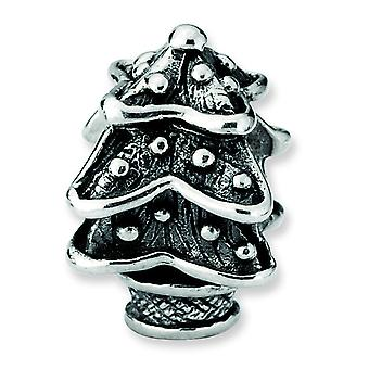 Sterling Silver Reflections Christmas Tree Bead Charm