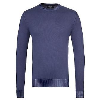 Hackett GMD Denim blauw Crew-Neck trui
