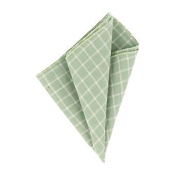 Mr. icone handkerchief Hanky diamond pattern light green
