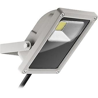 LED outdoor floodlight 15 W Cold white Goobay 30647 Grey