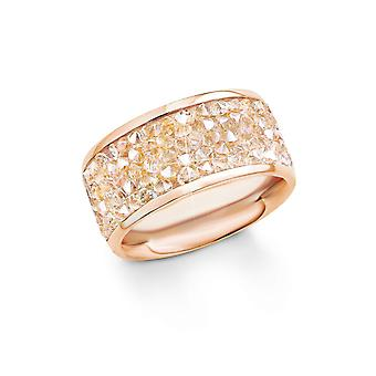 s.Oliver juweel dames ring RVS Rosé goud SO1358