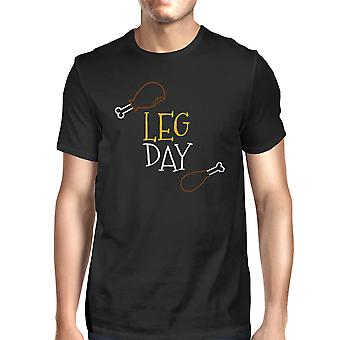 Leg Day Men's T-shirt Unisex Work Out Graphic Short Sleeve Tee