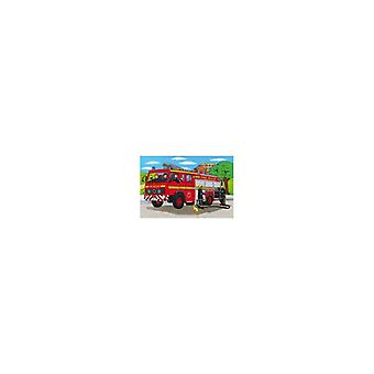Floor puzzles firetruck 40x60cm with tray