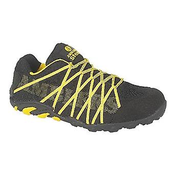 Amblers Steel FS25 Men Safety Trainers Textile Rubber Lace Up Fastening Footwear