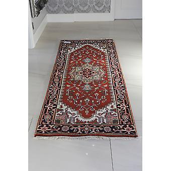 Serapi Indo rød omkranset orientalske uld tæppe