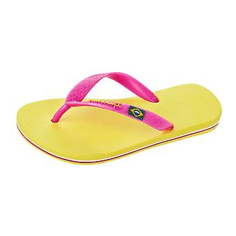 Ipanema Rio II niños ojotas / sandalias - amarillo y rosa