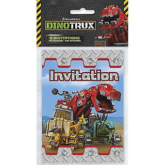 Dinotrux Party Invitations [8 per Pack]