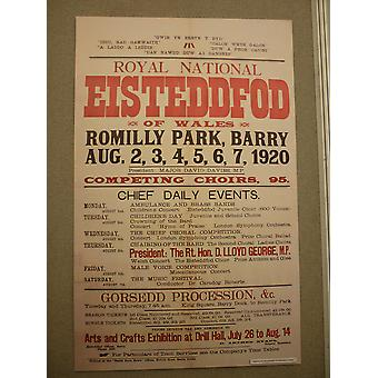 1920 Eisteddfod Poster Poster Print Giclee