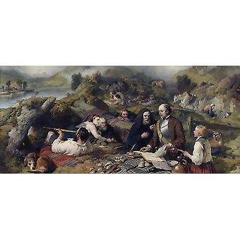 Edwin Landseer - Rent day in the Wilderness Poster Print Giclee