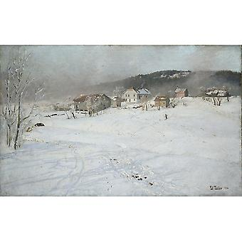 Frits Thaulow - Winter Poster Print Giclee