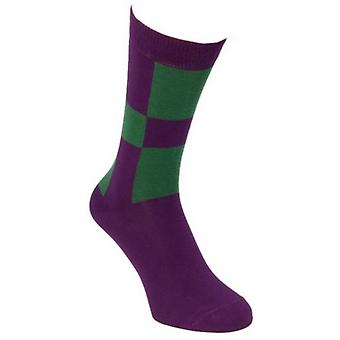 40 Colori Racing Socks - Purple/Dark Green