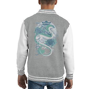 Chihiro Dragon de chaqueta Varsity de cabrito de Blue River