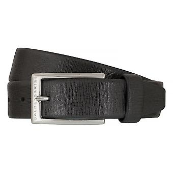 BALDESSARINI belt leather belts men's belts leather grey 6496