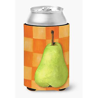 Carolines Treasures  WHW0117CC Pear in Orange by Ute Nuhn Can or Bottle Hugger