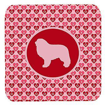 Carolines schatten SDK1081-A-FC Set van 4 Groot Pyreneeën Valentine harten schuim