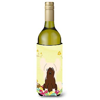 Easter Eggs Chinese Crested Cream Wine Bottle Beverge Insulator Hugger