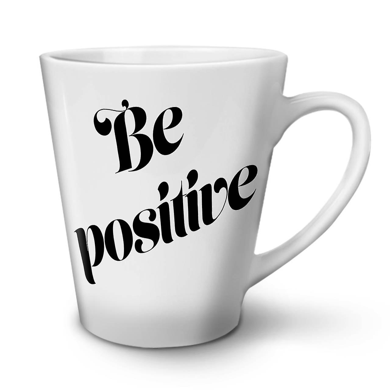Citation Être Positive En Latte Céramique OzWellcoda Café Blanche Nouvelle Tasse 12 qGMSVUzpL